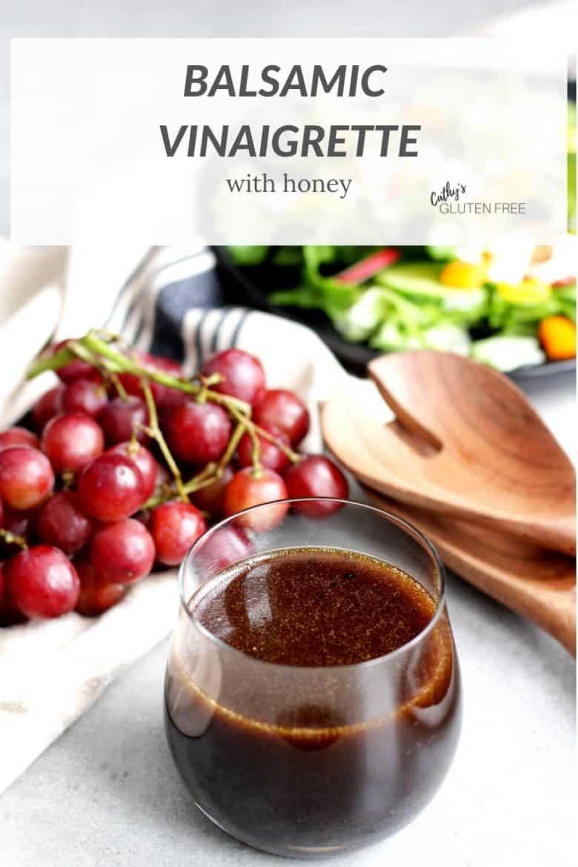 balsamic vinaigrette, grapes, and salad