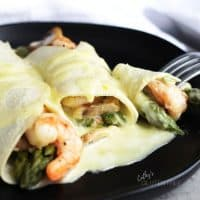 Gluten Free Seafood Crepes