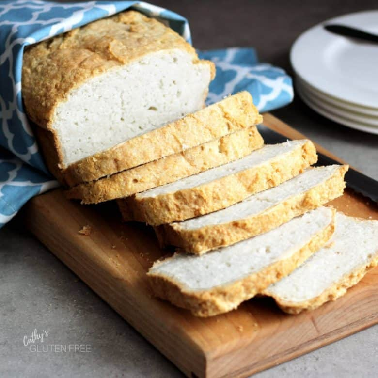 sliced crusty gluten free bread