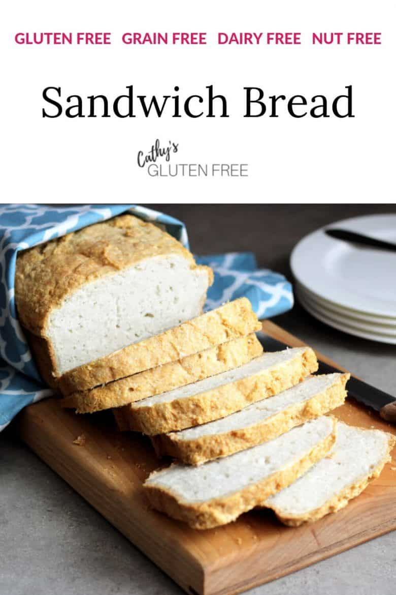 sliced grain free sandwich bread