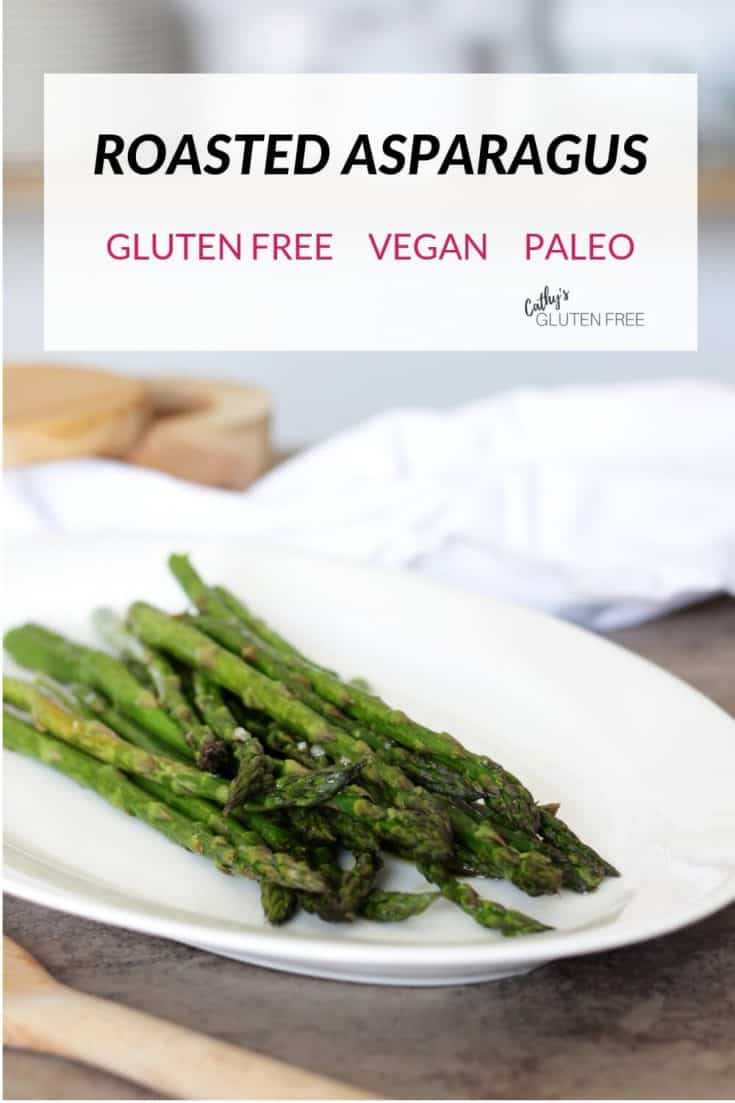 This simple Roasted Asparagus recipe makes it easy to prepare a vegan, paleo side on a pan in the oven. I think it's the best way to cook this healthy vegetable! #oven #recipes