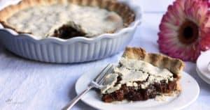 gluten free raisin pie served to one