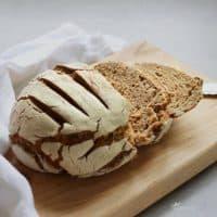 round loaf of crusty bread