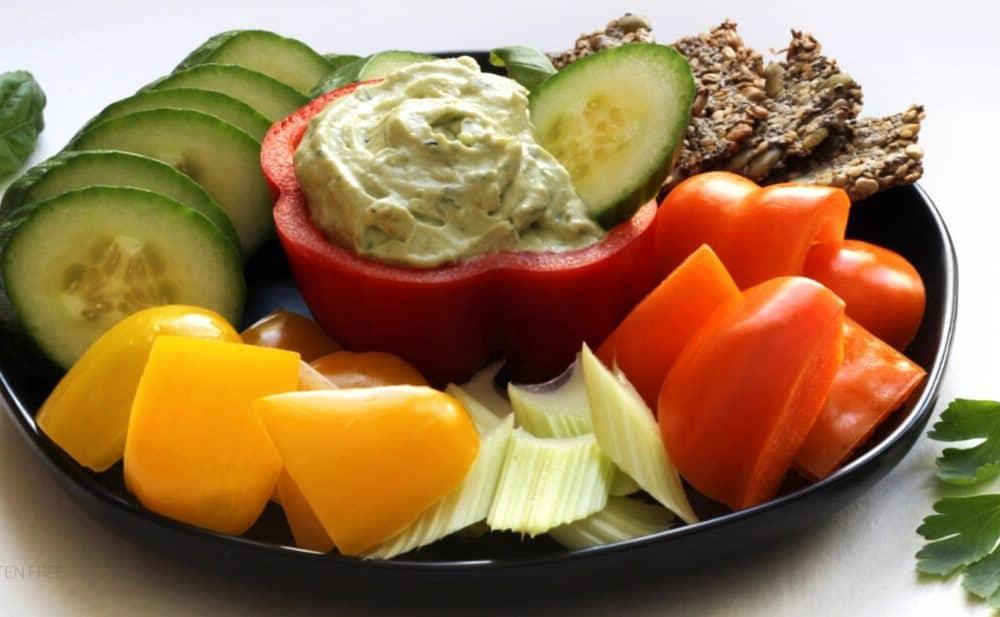 Vegan Avocado Veggie Dip