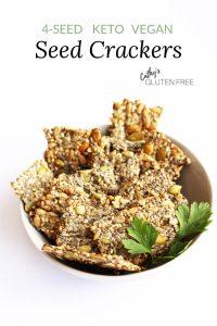 Vegan Seed Crackers in bowl