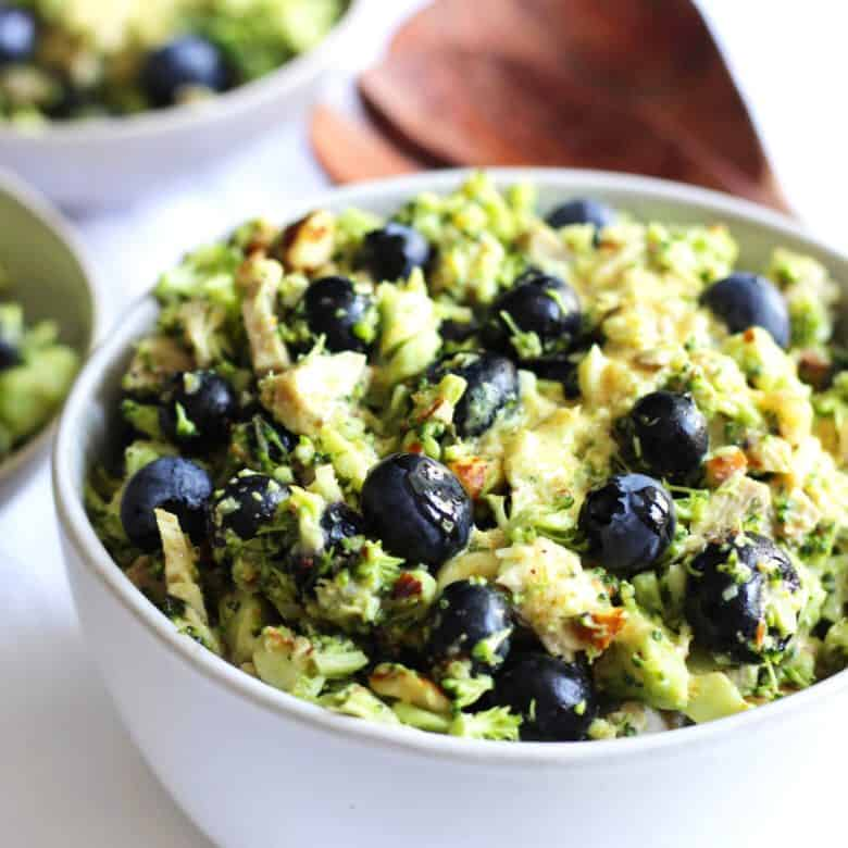 broccoli slaw with blueberries