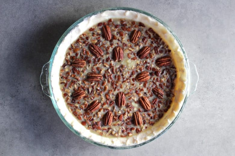 unbaked pecan pie