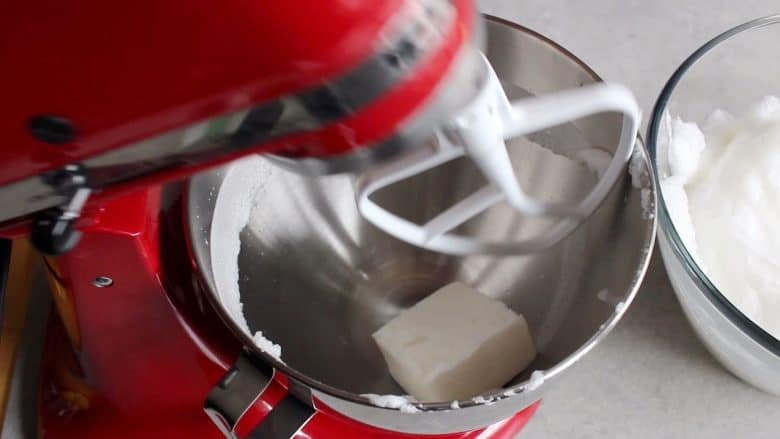 lard in mixing bowl of stand mixer