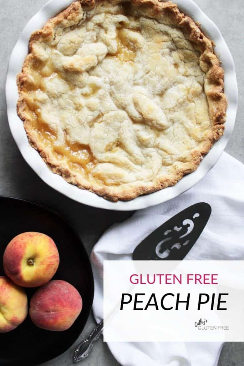 gluten free peach pie with fresh peaches