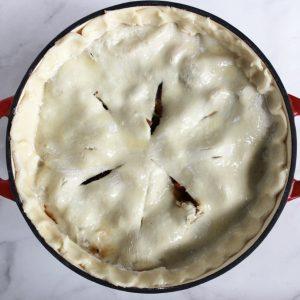 shiny pie crust