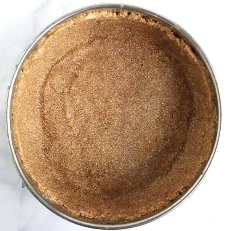 crumb crust pressed into springform pan