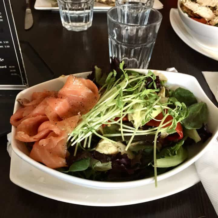 smoked salmon and greens