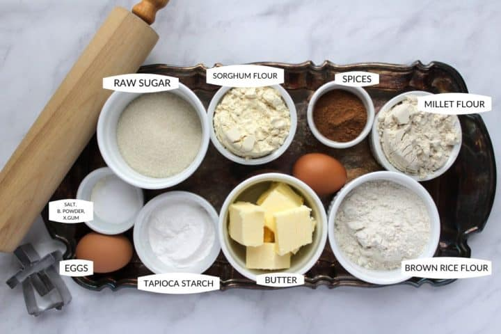 ingredients for gluten free cookies