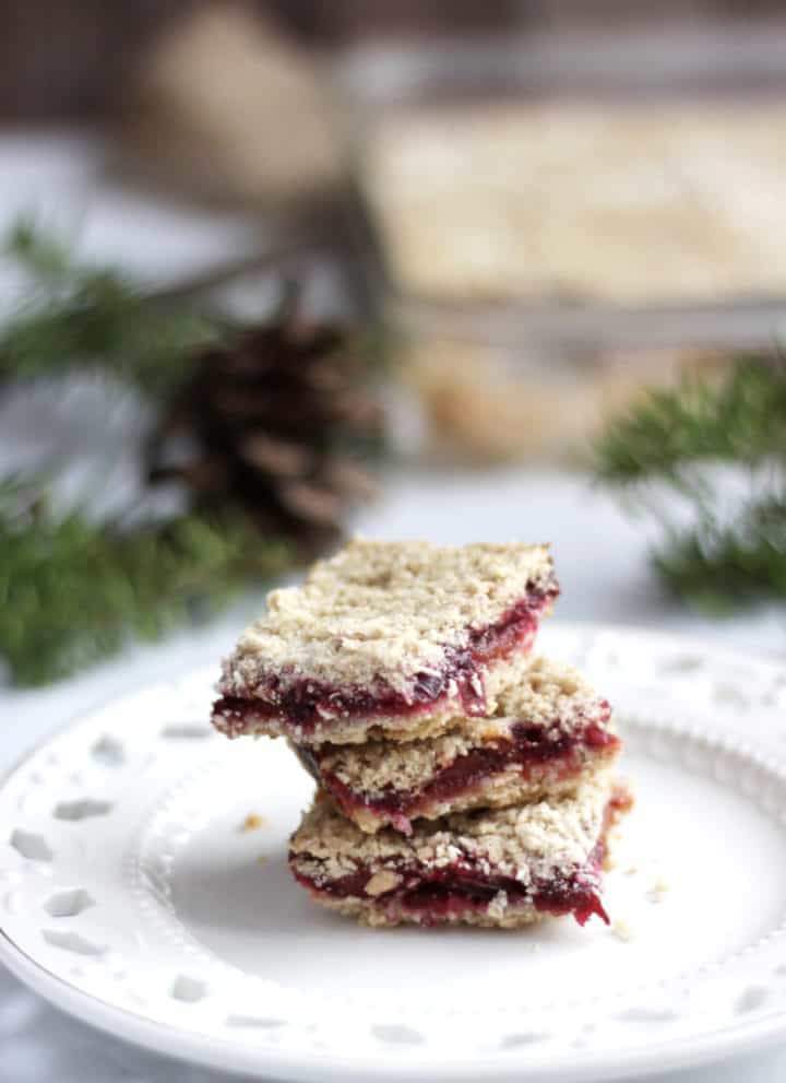 stacked gluten free cranberry bars
