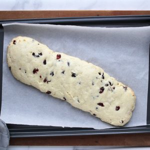 baked biscotti log