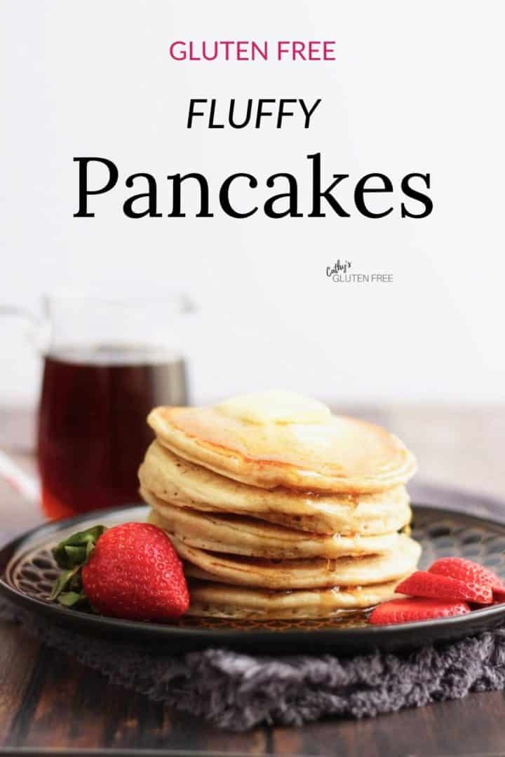 stack of pancakes with text overlay