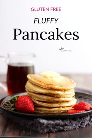 stacked pancakes with text overlay
