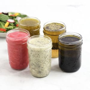 5 jars of salad dressing