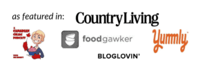 """as featured in"" logos for Country Living, A Canadian Celiac Podcast, etc."