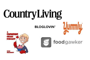 logos for Country Living, A Canadian Celiac Podcast, etc.