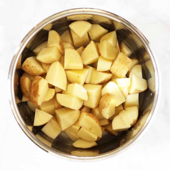potato chunks in Instant Pot