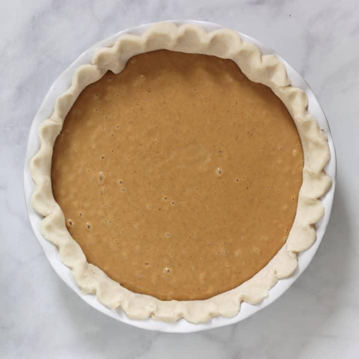 unbaked pumpkin pie